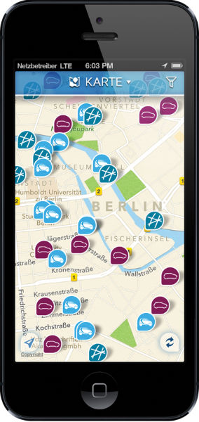 CarJump App iPhone Karte_de