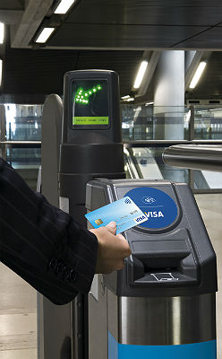 Visa contactless at gate