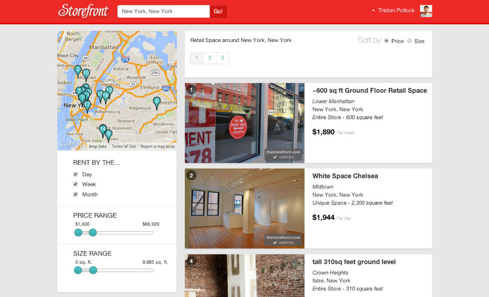 Storefront Results Page