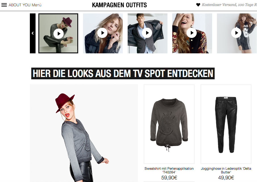 About You Kampagnen Outfits